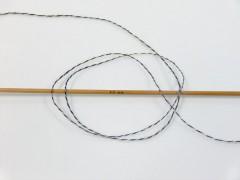 Vlna len tweed - antracitověčernokromovoduhová