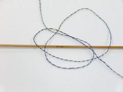 Vlna len tweed - námořnickákrémovoduhová