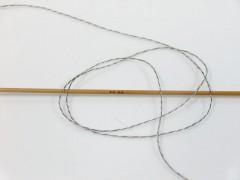 Vlna len tweed - šedokrémovoduhová