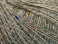 Vlna len tweed - šedovelbloudíkrémovoduhová
