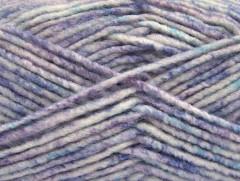 Vlna melánž - fialovotyrkysovobílá