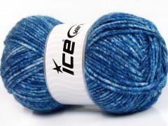 Vlna melánž - modré odstíny
