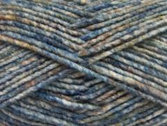 Vlna melánž - modrovelbloudíbílá