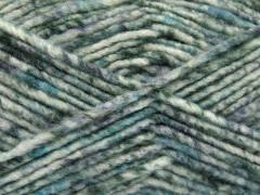 Vlna melánž - šedotyrkysovobílá