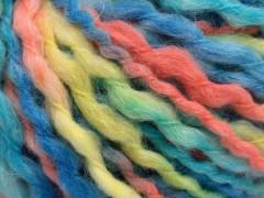 Vlna superbulky color - modrotyrkysovolososovosvětle žlutá