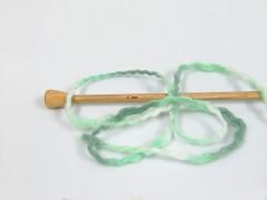 Vlna superbulky color - zelené odstíny