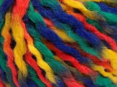 Vlna superbulky color - žlutooranžovozelenonámořnická